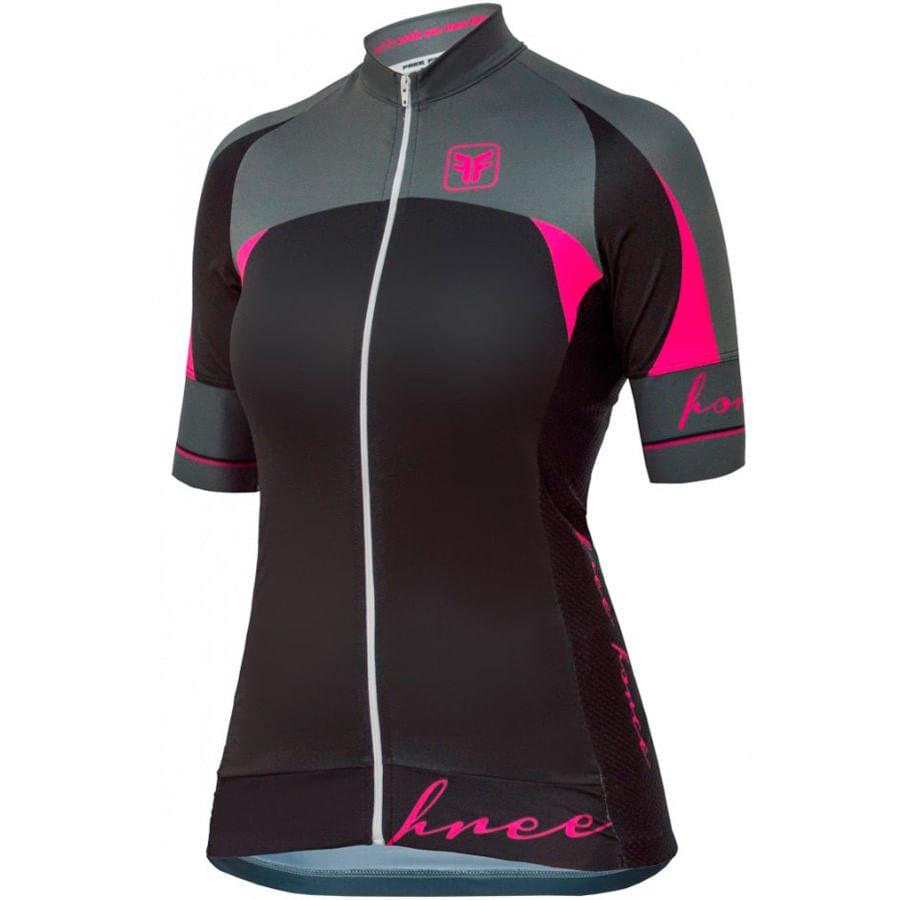 Camisa para Ciclismo Feminina Free Force Majestic Preta 3210-Preto