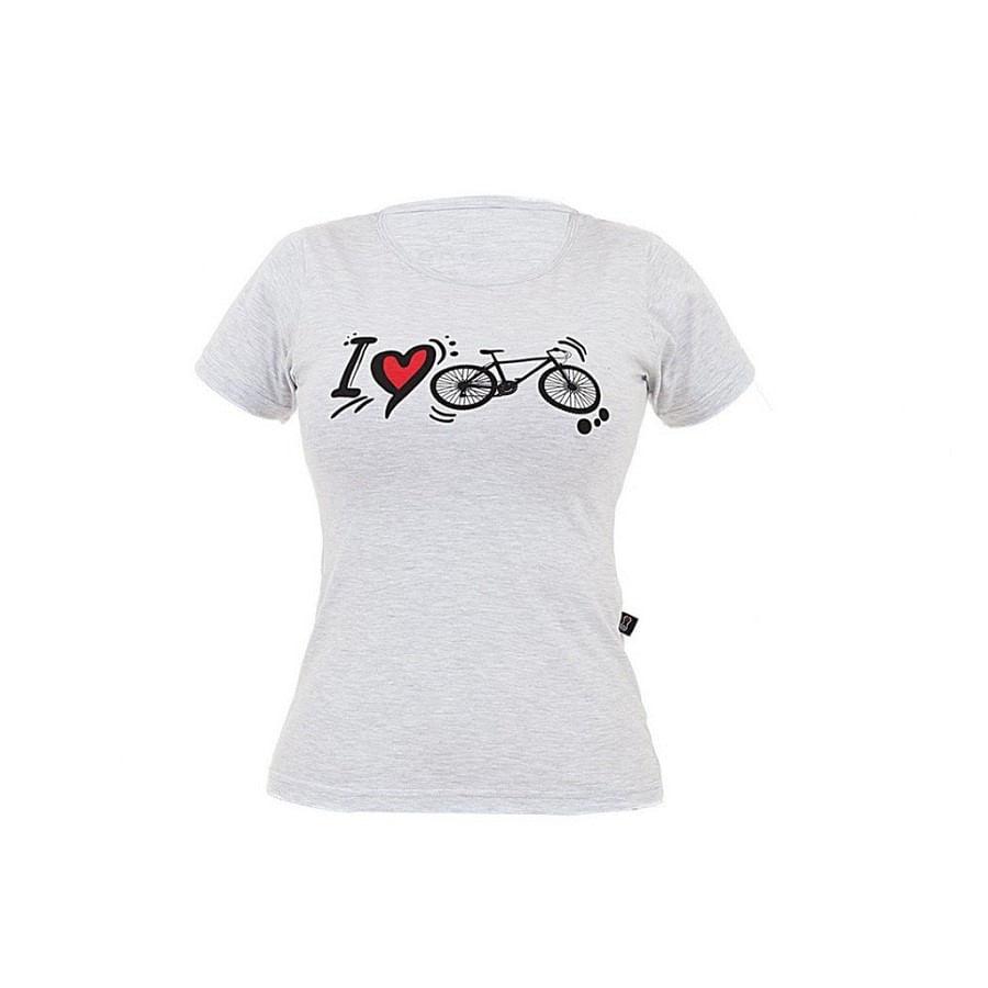 Camiseta Casual Marcio May I Love Bike Feminina cfs501