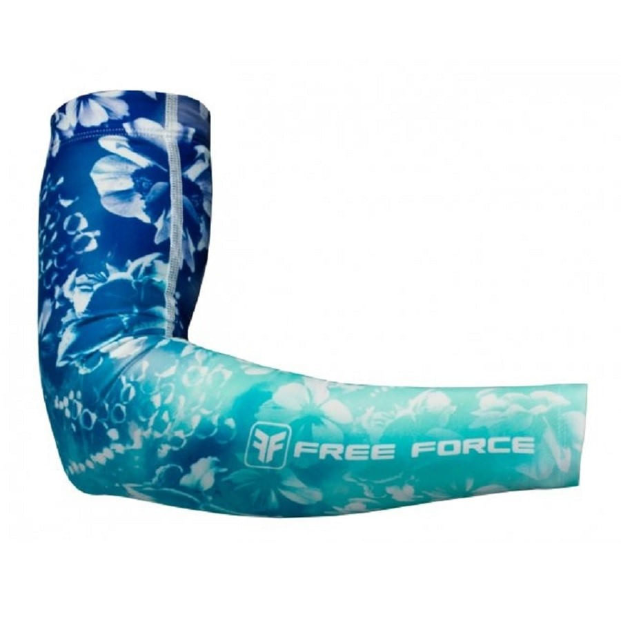 Manguito para Ciclismo Feminino Free Force Flowers Azul Marinho 3231-Azul-Marinho