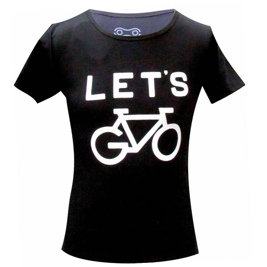 Camiseta Casual Marcio May Let's Go Bike Feminina 5560