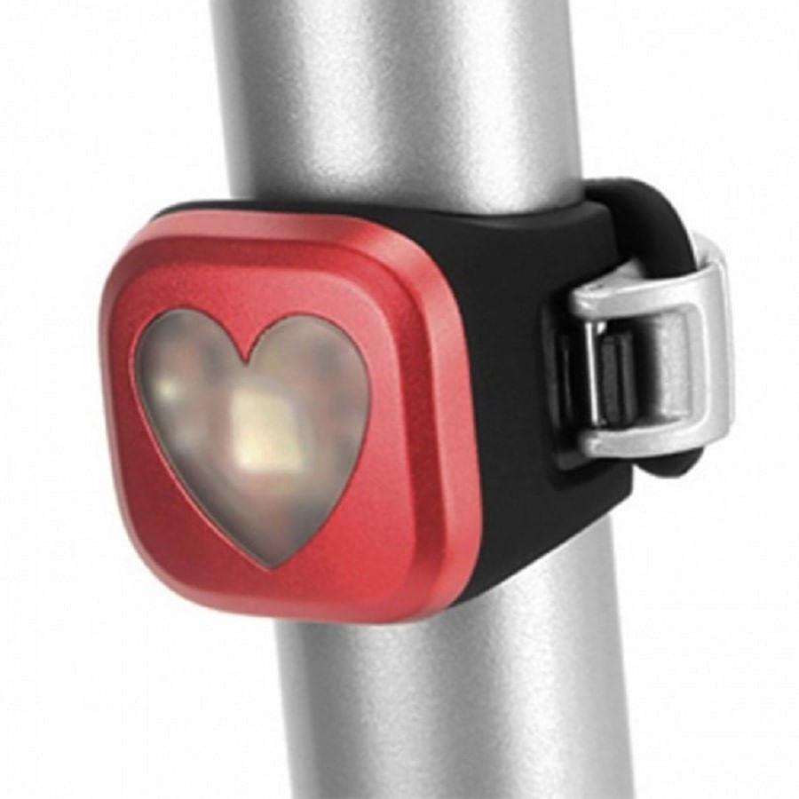 Lanterna Traseira de Bike Knog Blinder 1 Coração Vermelho USB 4074