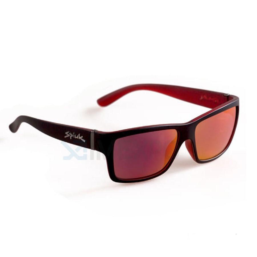 Óculos Casual Spiuk Halley Preto / Vermelho com Lente Espelhada 3274