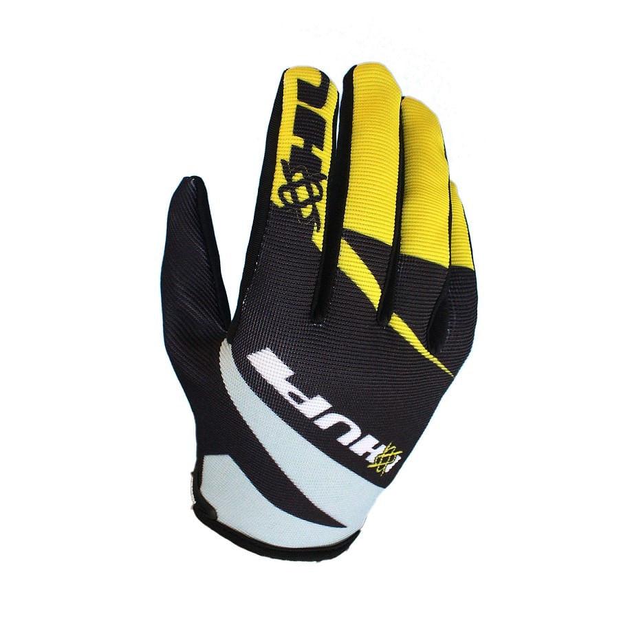 Luva de Bike Hupi MTB Preta / Amarelo - Dedo Longo 6207