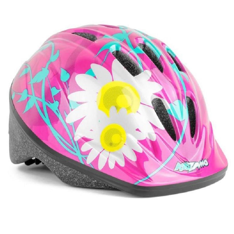 Capacete de Bike Infantil Rosa Flores Kidzamo com Regulagem KZ-008 7468
