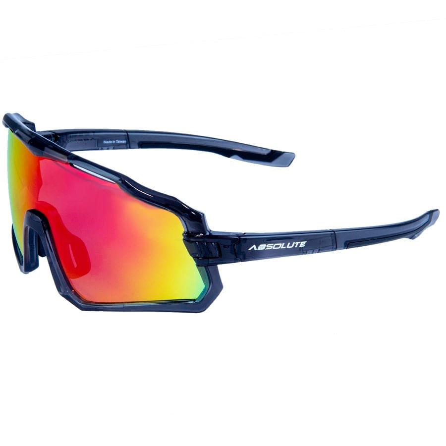 Óculos para Ciclismo Absolute Wild Cinza Lente Espelhada Vermelha UV400 8050