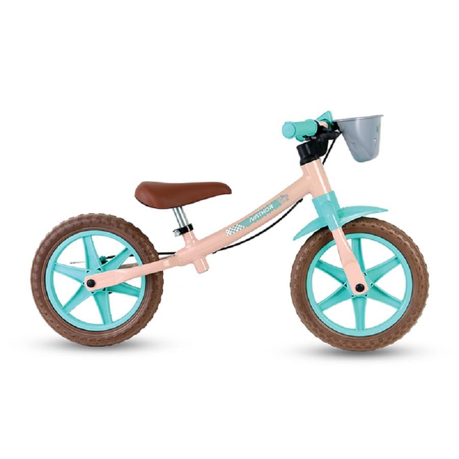 Bicicleta-Balance-Infantil-Nathor-12-Rosa-Verde-Tiffany