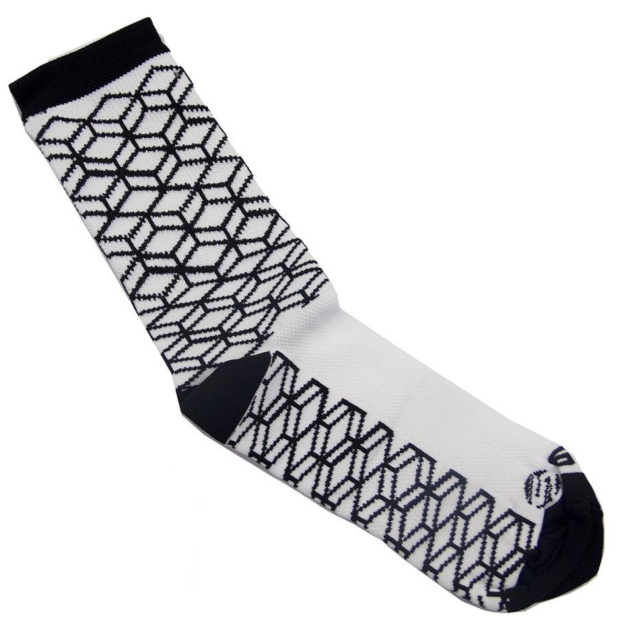 Meia-de-Ciclismo-Cano-Longo-Skin-Sport-Hexagons-Preto-Branco---9150--3-