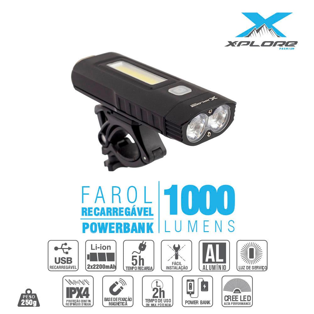 Farol-de-Bike-Dianteiro-Recarregavel-USB-2xLed-Cree-X-Plore-1000-Lumens---9312--1-