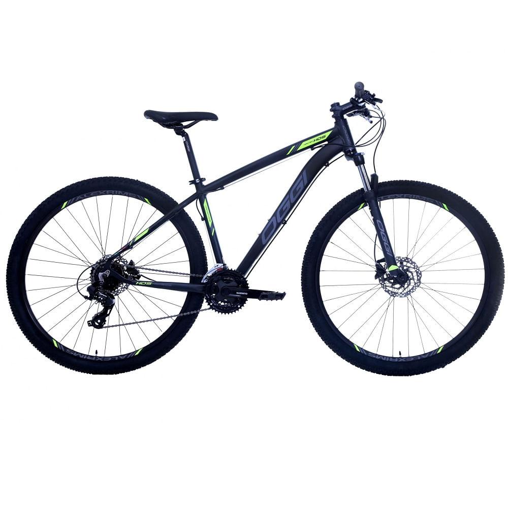 Bicicleta-MTB-Oggi-Hacker-HDS-29-Preto-Grafite-Verde