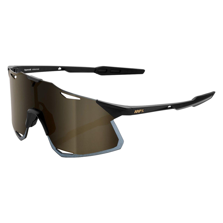 Oculos-para-Ciclismo-100--Hypercraft-Preto-Lente-Dourada-Espelhada-UV400---10226--1-